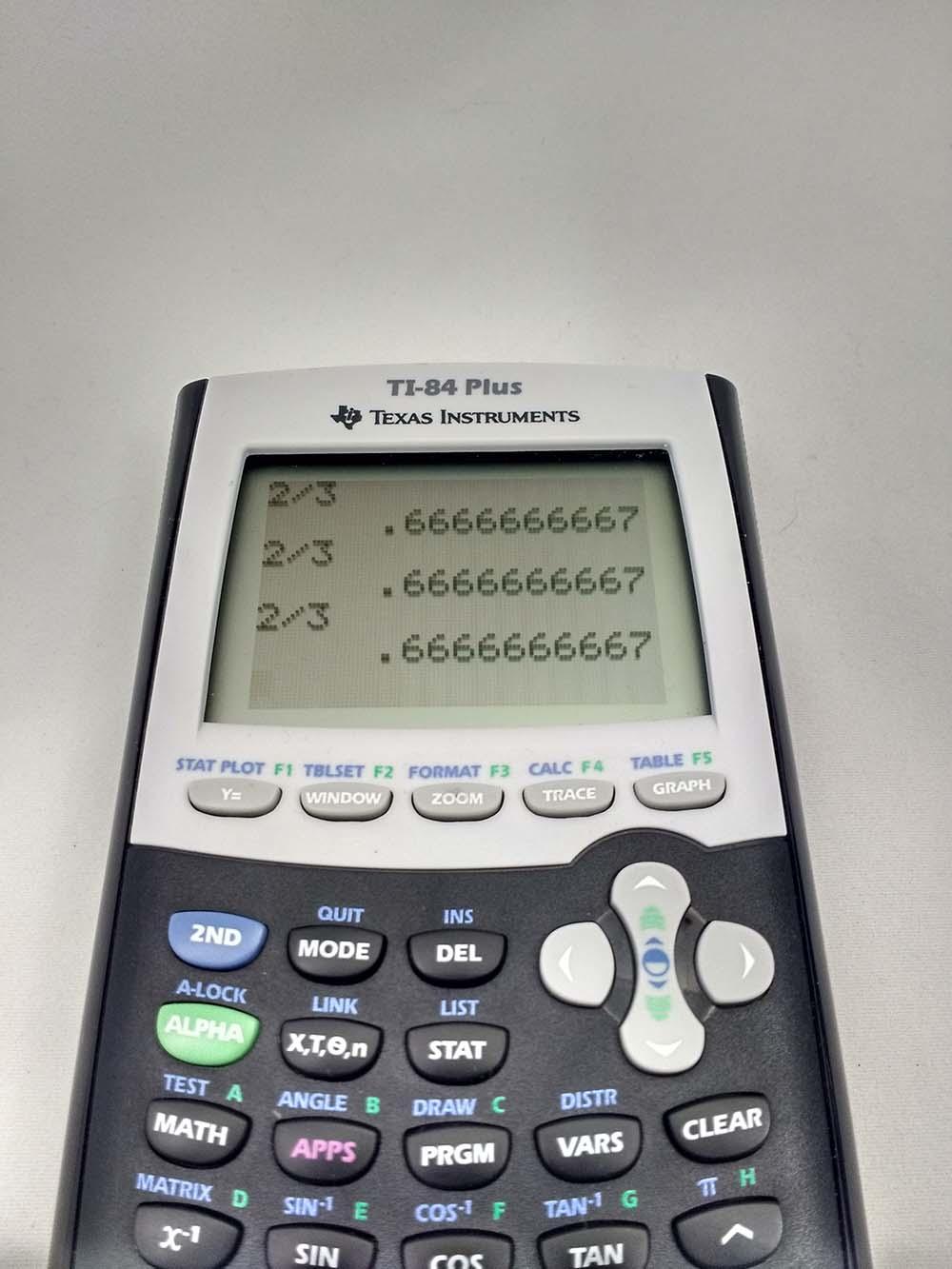 Texas Instruments calculator ...